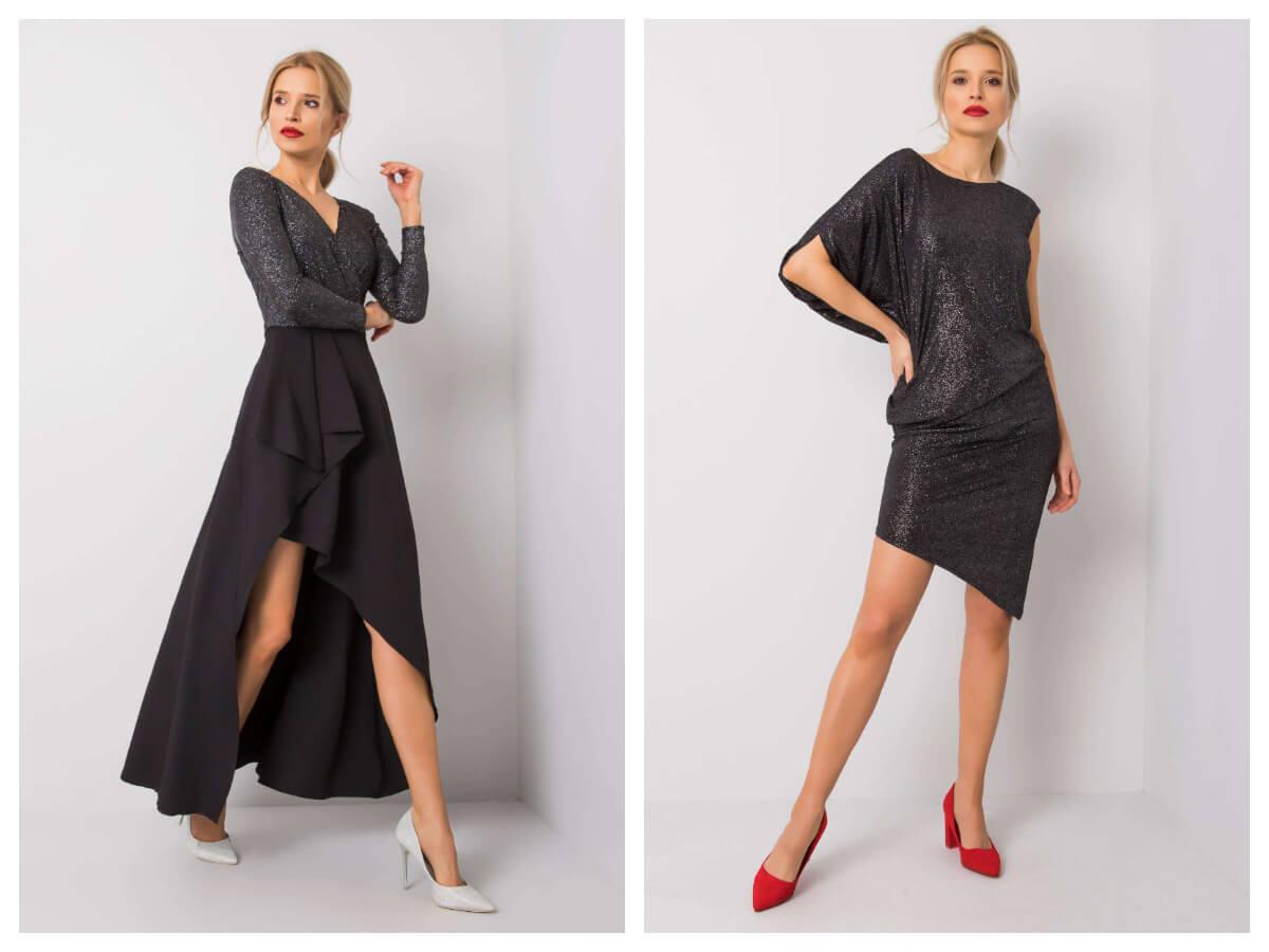 Czarna sukienka wieczorowa maxi