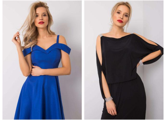 krótkie sukienki z odkrytymi ramionami