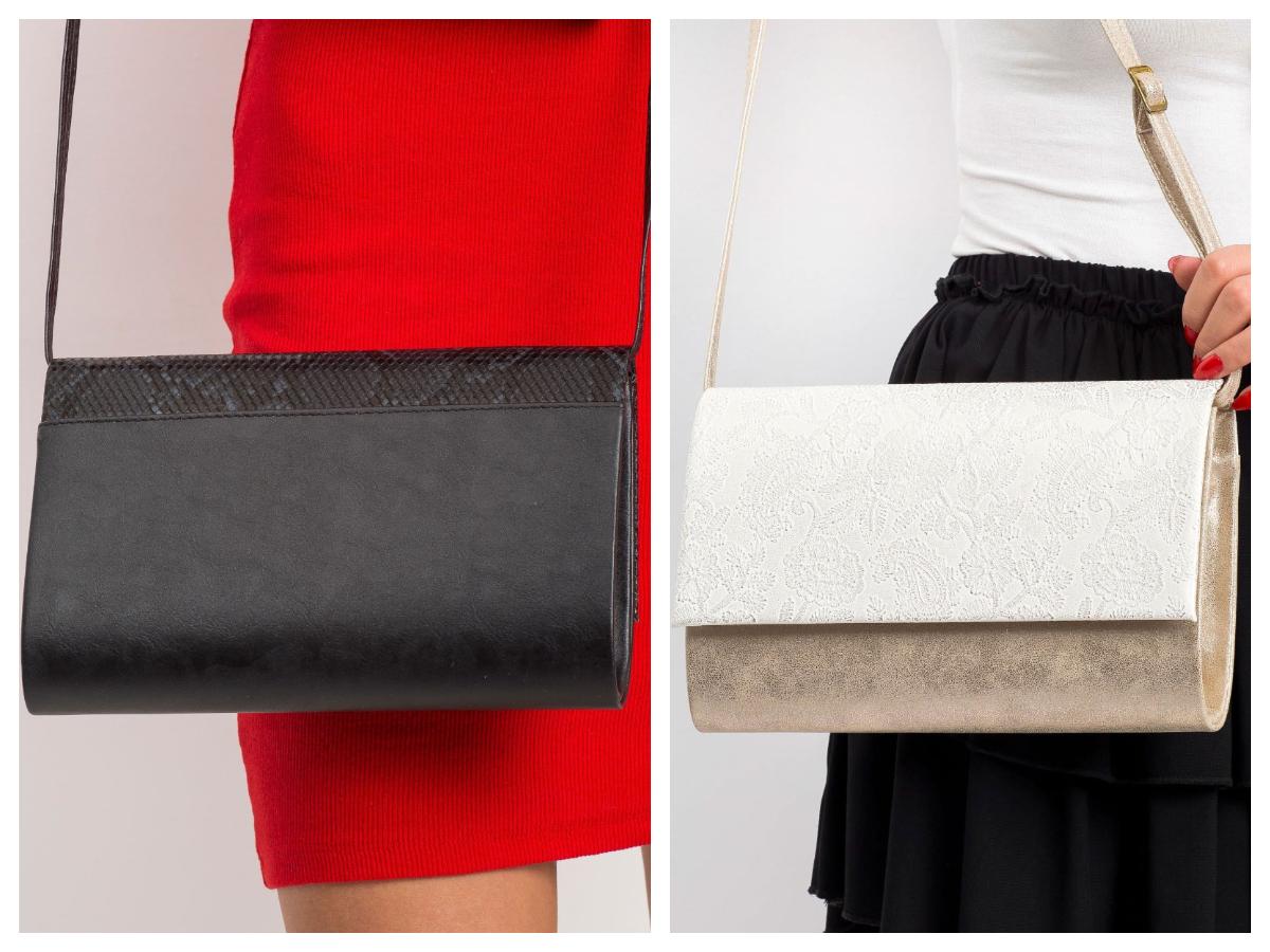 modne dodatki do czerwonej sukienki - małe torebki na pasku